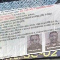 Tapizan monterrey  con narcomantas por agresión en penal de Nuevo León