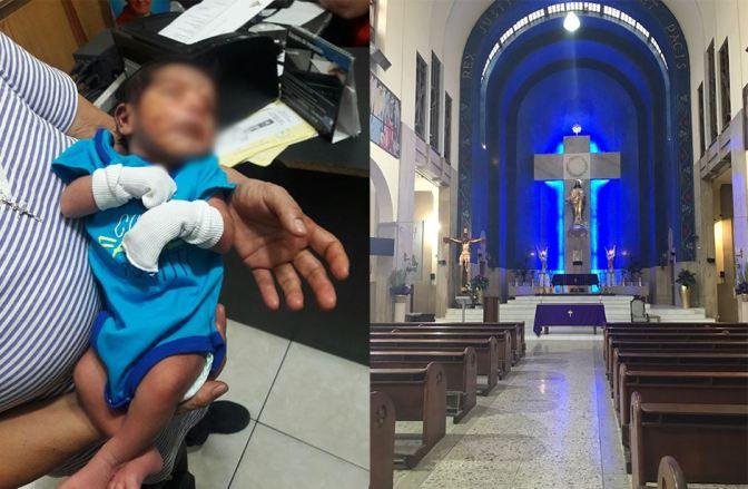 REPORTE;Abandonan a bebé en banca de Iglesia en Monterrey …