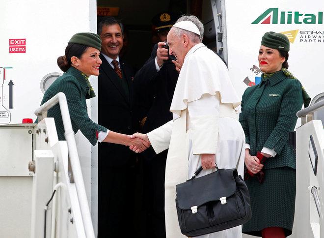 El Papa Francisco llega a El Cairo