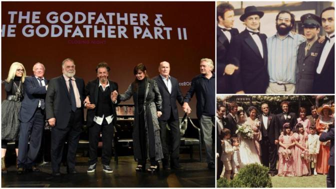 Elenco de 'El Padrino' se reúne por 45 aniversario del filme