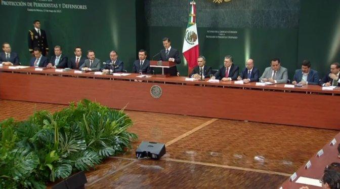 EPN y gobernadores analizan estrategia de protección a periodistas