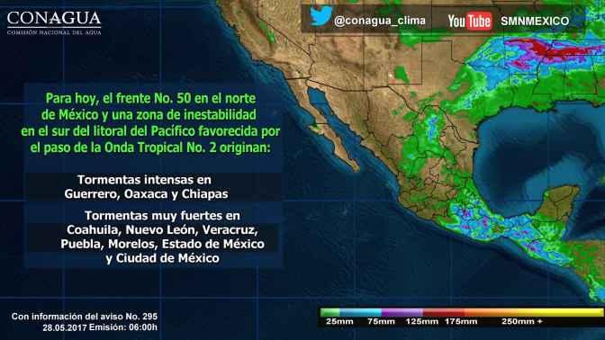 Se prevén tormentas en gran parte del territorio nacional