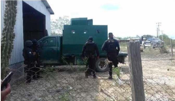 "Policía estatal asegura  ""Monstruo"" en Camargo…"