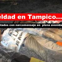 Encuentran 4 ejecutados con narcomensaje en Tampico