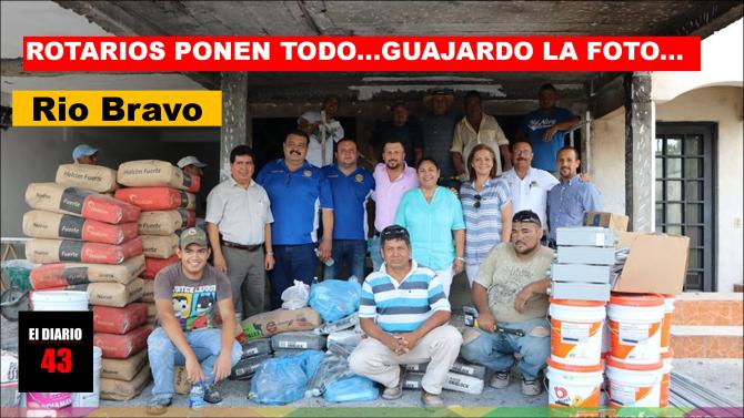 Lleva Club Rotario de Río Bravo, total apoyo a Familias afectadas por explosión…