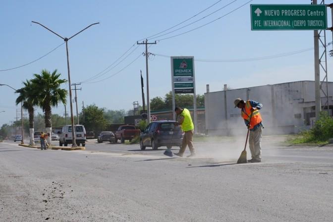 Intensifican programas de limpieza en la Villa de Nuevo Progreso