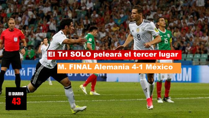 México se derrumba ante Alemania, que gana 4-1…
