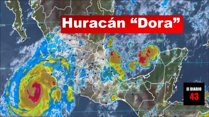 """Última información sobre la ubicación y trayectoria del huracán """"Dora"""""""