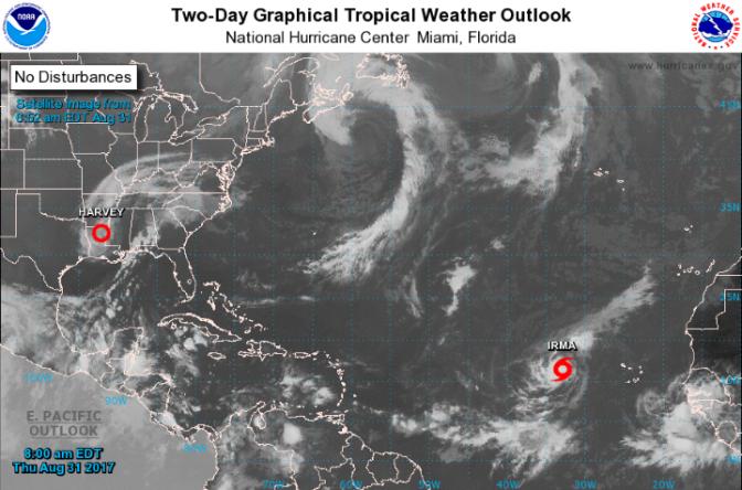 """Ahora es """"Irma"""" se encuentra a punto de convertirse en huracán y sigue rumbo al Caribe.."""