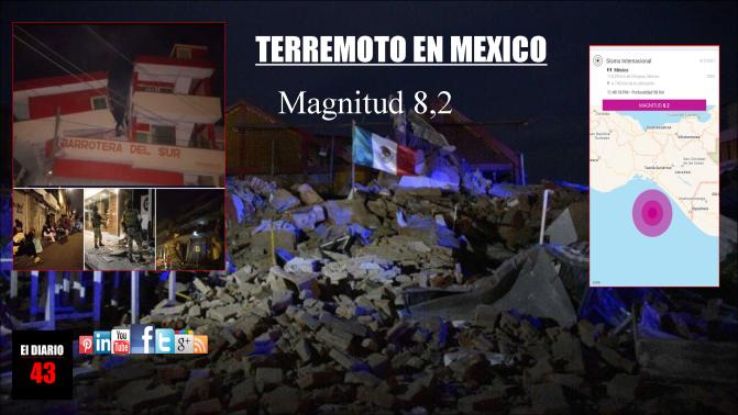 Terremoto en México: al menos 16 muertos en el mayor sismo de los últimos 100 años en el país