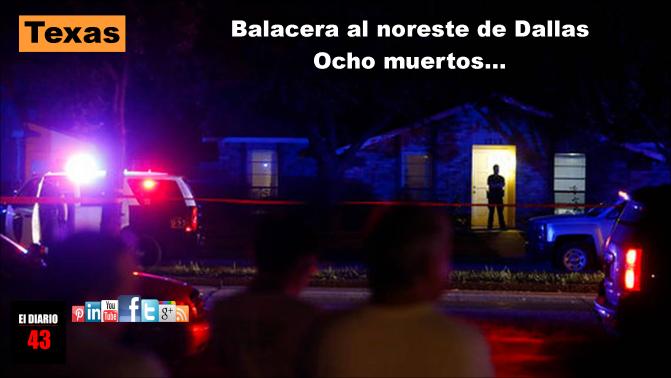 Balacera en Texas deja al menos ocho muertos