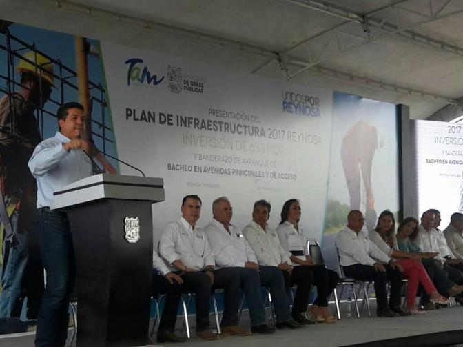 Invierte gobernador FGCV, 633 MDP en obras para Reynosa