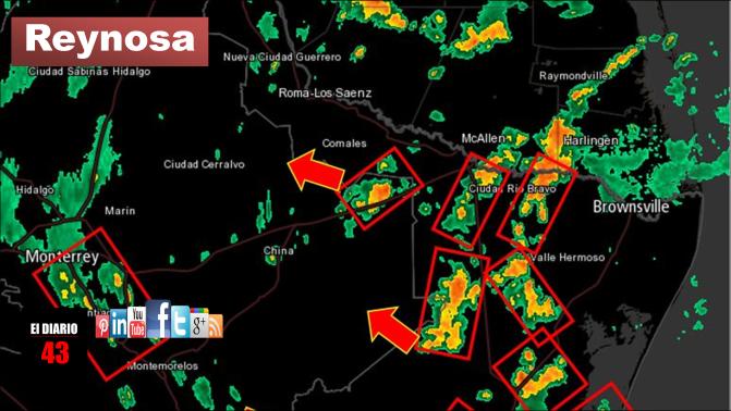 Nublados densos con tormentas fuertes en Tamaulipas y Nuevo León ..