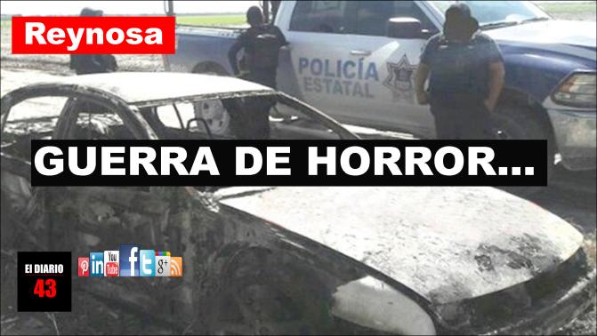 HALLAN 6 CUERPOS CALCINADOS DENTRO DE AUTOMÓVIL EN REYNOSA…