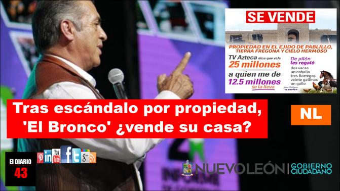 """El gobernador de Nuevo León, Jaime Rodríguez """"El Bronco"""", anuncia venta por  Facebook …"""
