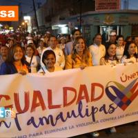 Encabeza Alcaldesa Caminata de la Igualdad en Tamaulipas
