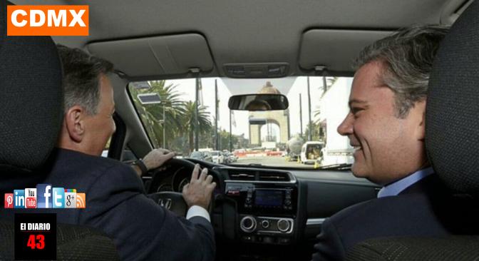 """Meade """"comparte trayecto"""" junto al secretario Aurelio Nuño"""