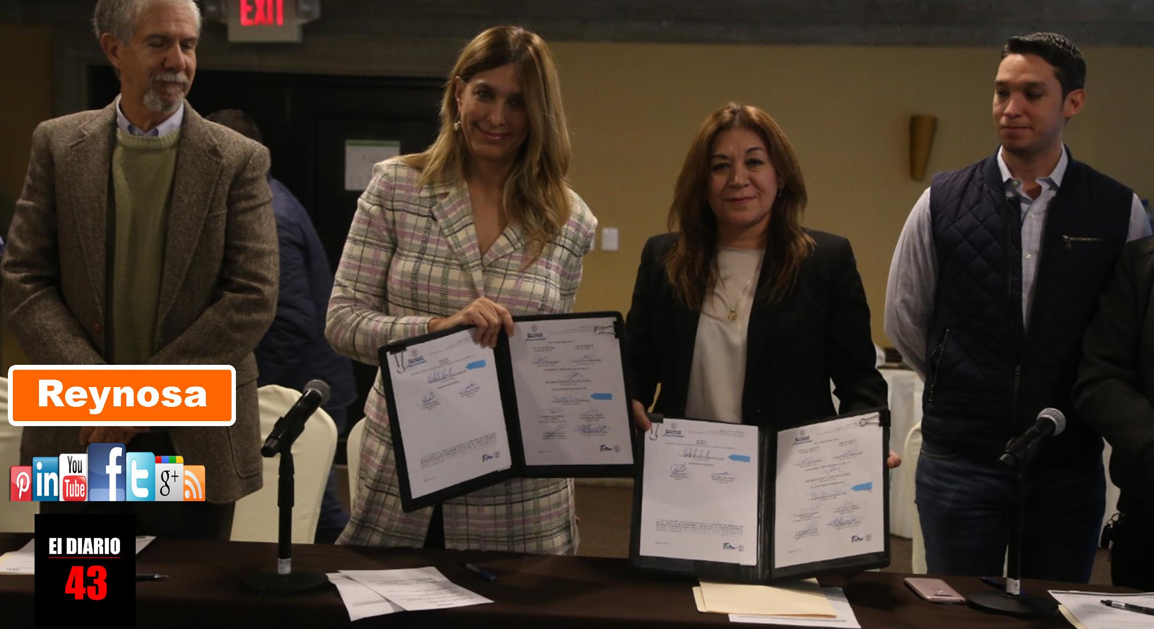 Firma Convenio de pavimentación Municipio con sector industrial