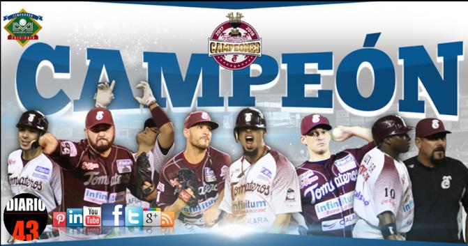 Tomateros Campeón Absoluto de la Liga Mexicana de Beisbol del Pacifico