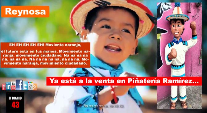 El niño de Movimiento Naranja ya tiene piñata en Reynosa