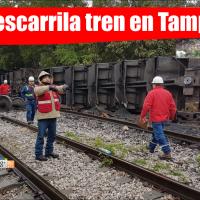 Tren se descarrila en Tampico