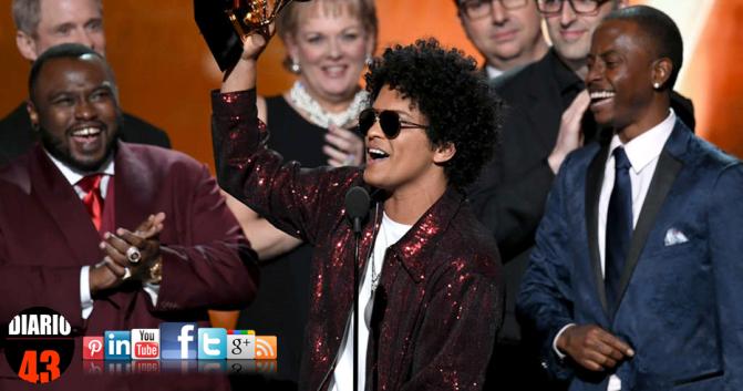 Bruno Mars, el gran ganador de los Premios Grammy 2018