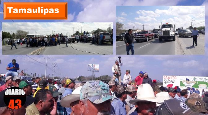 Nuevamente bloquean la carretera Reynosa/Río Bravo ySan Fernando/Victoria.