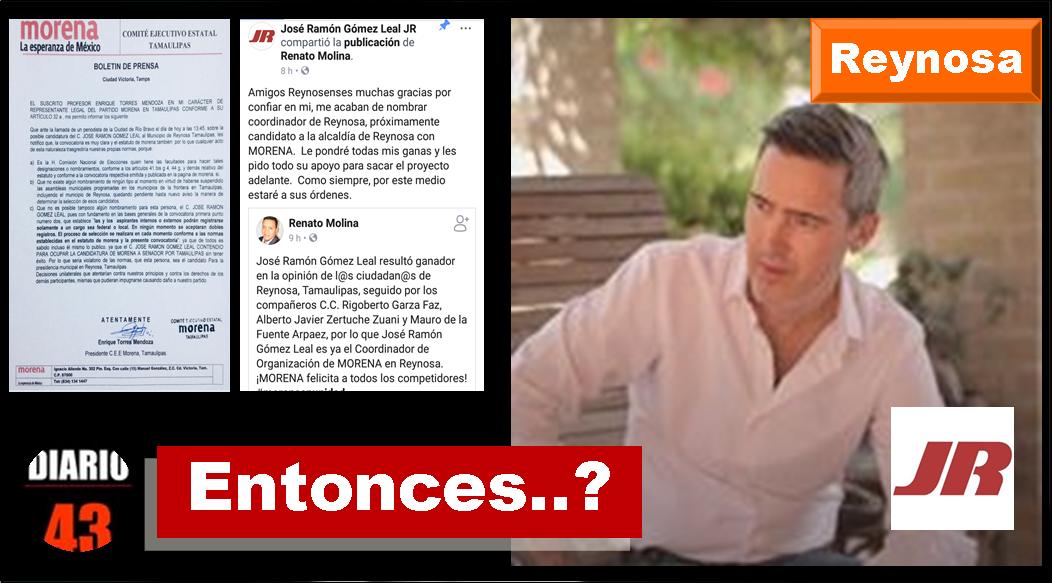 """Líder estatal de Morena dice que (no), pero  Jr, dice; """"será candidato por Morena a la alcaldía por Reynosa""""…"""