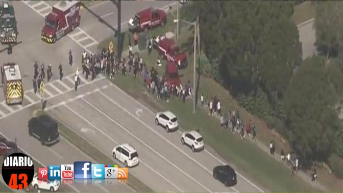 Tiroteo en escuela de Florida deja al menos 14 heridos…