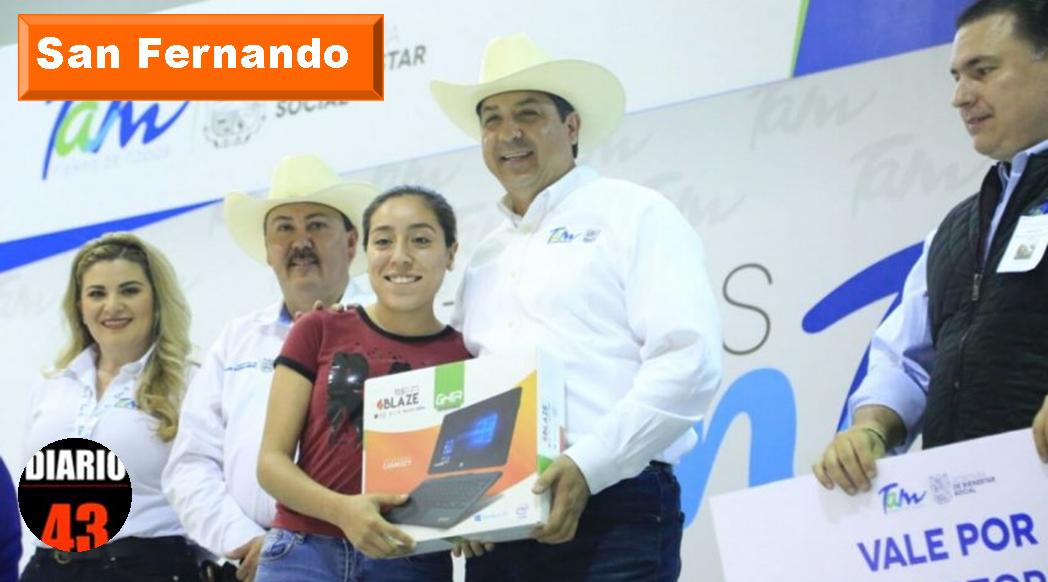 (Vídeo) FAMILIAS DE SAN FERNANDO RECIBEN APOYOS DE PROGRAMAS SOCIALES DEL GOBIERNO Y DIF