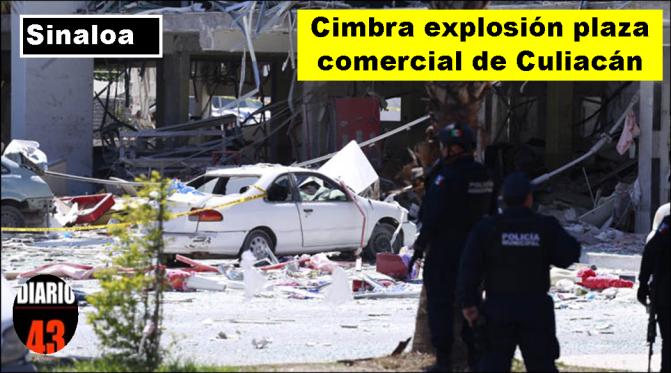Lesiona a 15 explosión en plaza en Culiacán