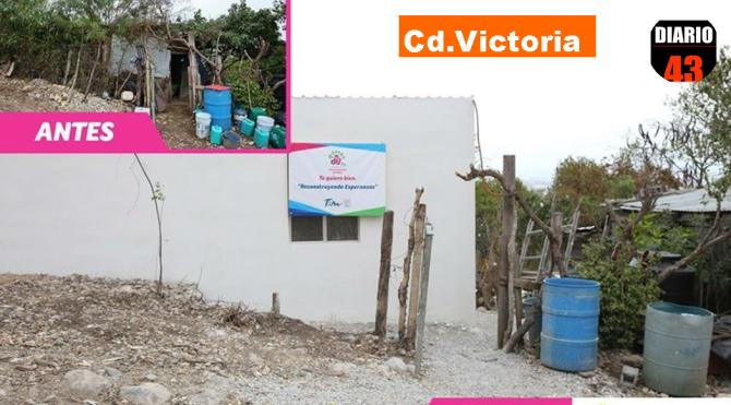 DIF TAMAULIPAS RECONSTRUYE ESPERANZAS A FAMILIAS QUE OCUPAN MEJORAMIENTO DE SUS VIVIENDA