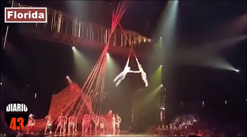 Acróbata del Cirque du Soleil muere al caer durante actuación