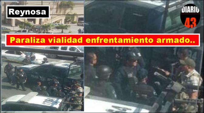 Hombres Armados Agreden a Policía Estatal en Bulevard  Morelos en Reynosa…