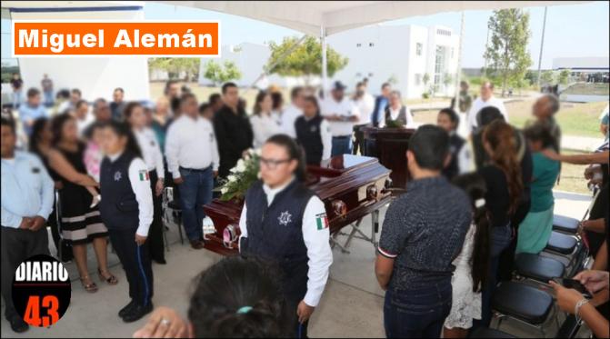 DESPIDEN CON HONORES A POLICÍA ESTATAL FALLECIDA EN MIGUEL ALEMÁN