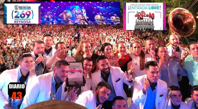 Presenta Gobierno de Reynosa a Banda El Recodo