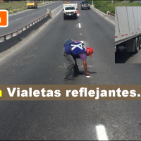 Instalan Vialetas en libramiento Monterrey-Reynosa