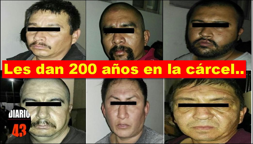 Sentencian a 200 años de prisión a 6 secuestradores en Cd.Victoria