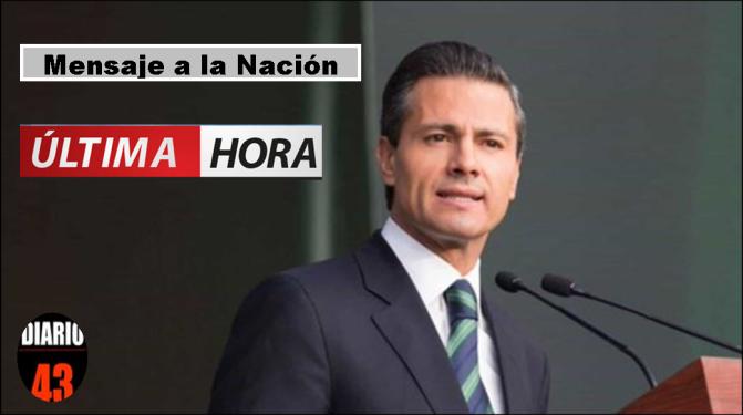 (VIDEO) Mensaje del presidente EPN a los Mexicanos…
