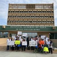 Protestan médicos por sus derechos en Reynosa