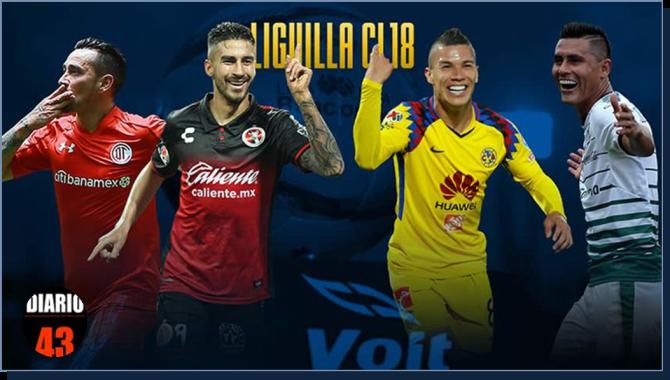 Las semifinales: Toluca vs Tijuana y América vs Santos