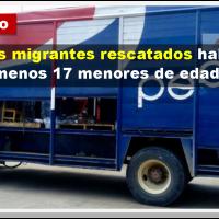 (Vídeo) Rescatan a migrantes que viajaban en un camión clonado de la Pepsi