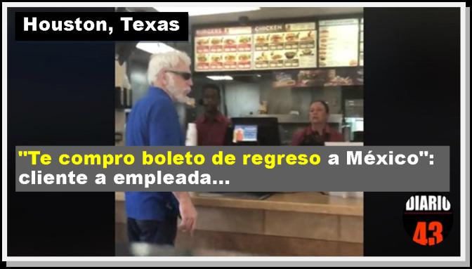 "Así agredió un cliente a empleada latina ""Jack in the Box"", en Houston, Texas"