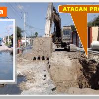 COMAPA trabaja en subsanar brotes de aguas negras en Las Mitras...