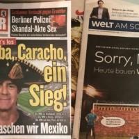 Qué dicen los periódicos alemanes del partido contra México...