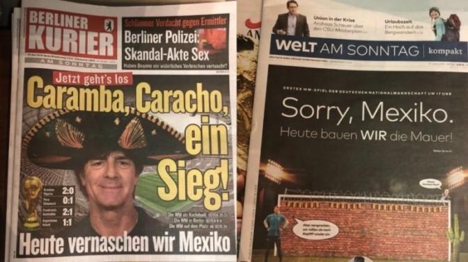 Qué dicen los periódicos alemanes del partido contra México…