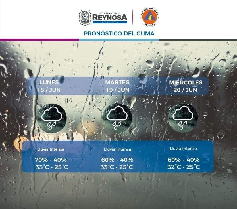 PC;Aviso de lluvias intensas en Reynosa…