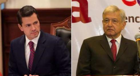 Peña Nieto y AMLO esta mañana en Palacio Nacional…