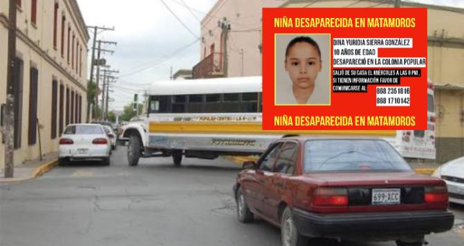 Encuentran a niña Desaparecida, sola en Urbano de Matamoros…