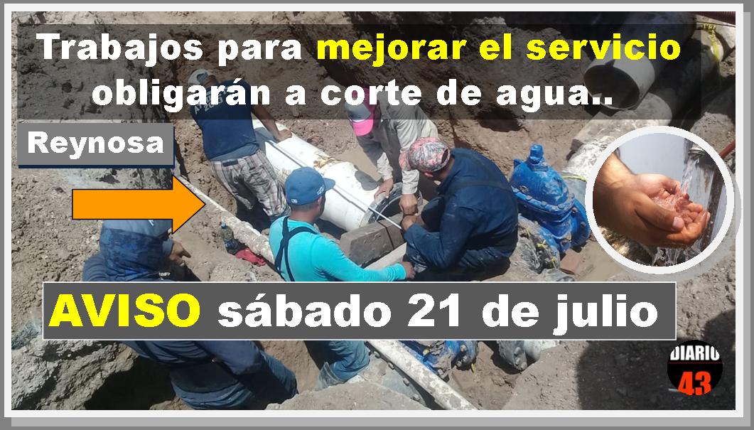 Suspensión programada de agua para sector Oriente: Colonias…